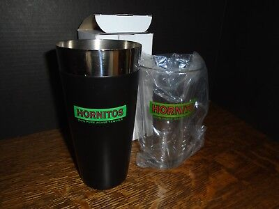 Vintage Hornitos Tequila Bar Shaker - Metal And Glass - Not Used - Dated 2009