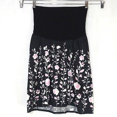 Motherhood Maternity Skirt with Stretch Belly Panel Women Size M Black Pink