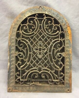 Antique Cast Iron Arch Gothic Heat Grate Wall Register 9X12 Dome Vtg  51-19D