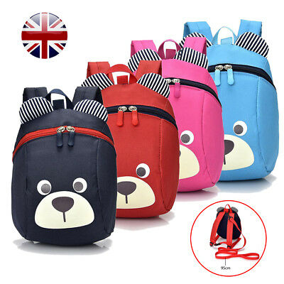 Cute Baby Toddler Safety Strap Kids Bag Harness Strap Bag Backpack with Reins UK