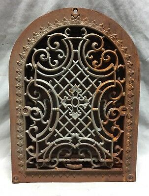 One Antique Cast Iron Arch Gothic Heat Grate Wall Register 9X12 Dome Vtg 23-19C