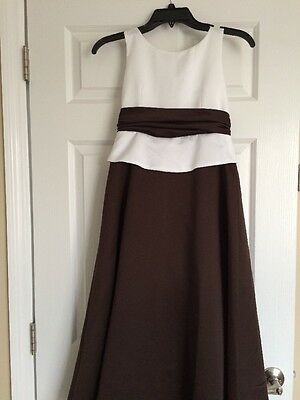 5430eea5ea NEW Jordan Sweet Beginnings Girls Formal White Chocolate Brown Dress Size 9  NWT