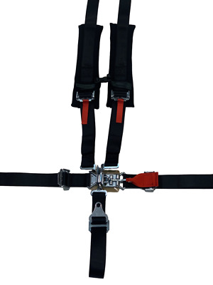 """SALE 2"""" Black Padded 5 Point Harness E4 Certified Off Road 2019 RZR Turbo S 1000"""