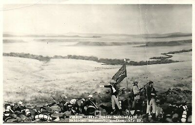 General George Custer Postcard Custer Battlefield National Monument Montana