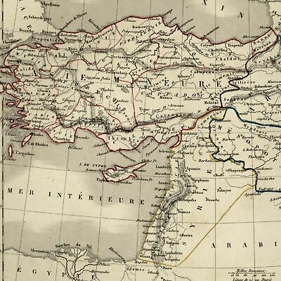 Asia Minor Turkey Armenia Mesopotamia Assyria c.1850 engraved old map