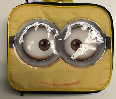 DESPICABLE ME MINION 3-D Dual-Chamber Lead-Safe Insulated Lunch Tote Box NWT $22
