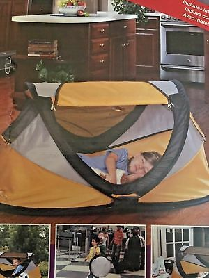 KidCo PeaPod Plus Yellow UV Protection Infant Toddler Travel Bed Lightweight