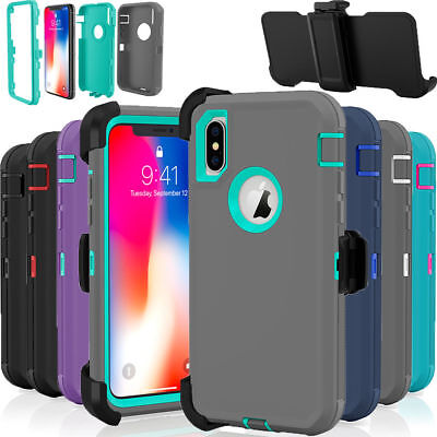 Case Cover Defender For Apple iPhone XR Holster Belt Clip fits Otterbox Defender