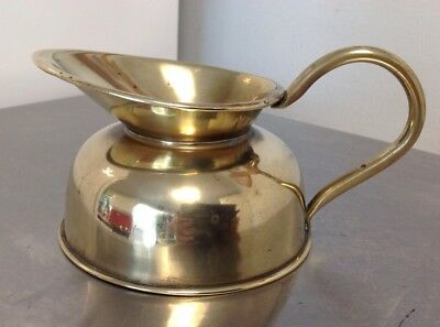 Vintage Small Brass Jug - Polished - 1/2 Pint Approx