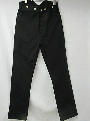 NWT Frontier Classics Old West Canvas Pants Mens Size 30 Black Suspender Buttons