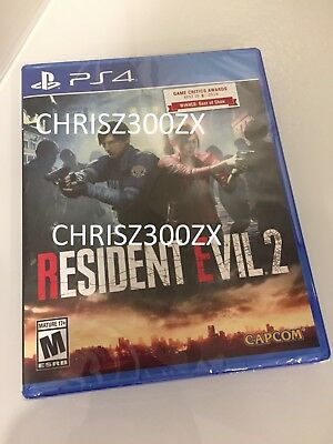 Resident Evil 2 Remake PS4 Sony Playstation 4 Standard Physical 2019 USA Capcom