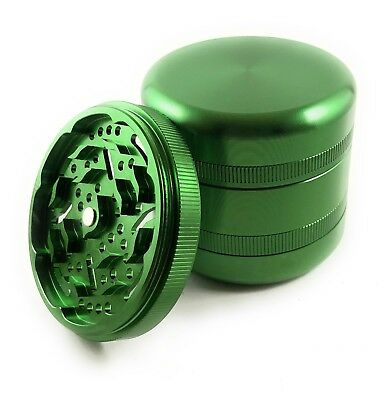 "New 6 Piece 2.5"" High Grade Tobacco Herb Grinder W/ Replaceable Teeth & Storage"