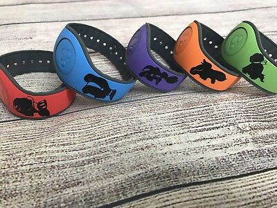 Set of 5 Disney Magic Band  Decals stickers Princess Silhouettes Tink