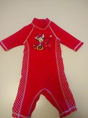 Baby Girls Disney Minnie mouse Swimsuit 3-6months