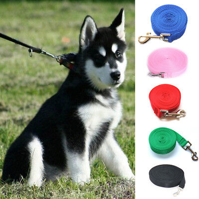 Pet Dog Lead Leash Long Obedience Foot Feet Recall Nylon Training Rope 1.5-30M