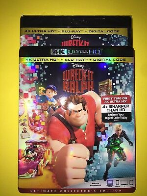 Wreck-It Ralph 4K ( 4K UHD/Blu-ray/Digital ) with Slipcover