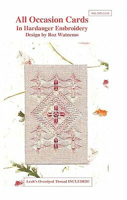 All Occasion Card Kit in Hardanger Embroidery includes Photo Cards and Thread