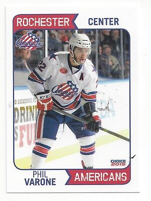 2014-15 Rochester Americans (AHL) Phil Varone (Montreal Canadiens)