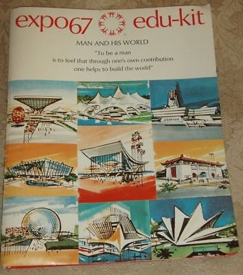 Expo 1967 Edu-Kit Folder with Maps, Booklets, Pictures to Color / Canada