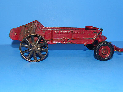 1930's Arcade McCormick Deering Cast Iron Manure Spreader Cast and Rubber Tires