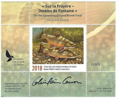 2018 Canada Quebec  Wildlife Habitat Conservation  -DQ87s   signed   Mint NH