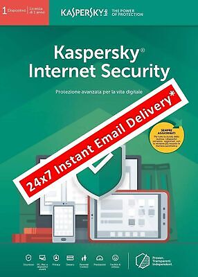 Kaspersky Internet Security 2019 ESD 1 Anno 1 Device (email immediata*)