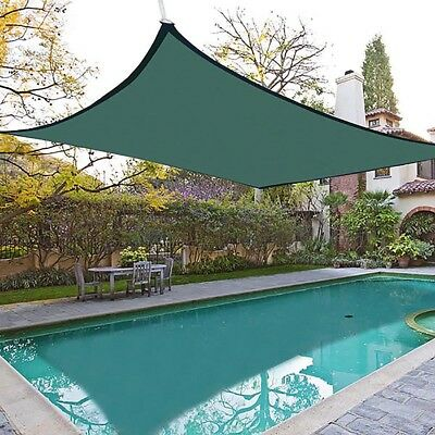 18'x18' ft Square Sun Shade Sail Outdoor Patio Top Canopy Cover 95% UV Past SGS