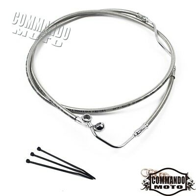 """New +6"""" Stainless Upper ABS Front Brake Line Kit Fits Harley Road King 2009-2013"""
