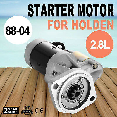 Starter Motor Fits Holden Rodeo TF 4WD Diesel 88-04 2.5L 4JA1 Replacement OEM