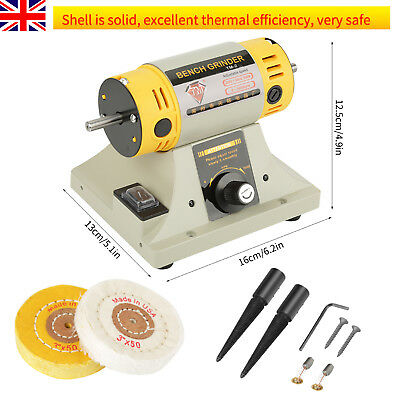 220V 350W Bench Grinder Polishing Machine Fr Jewelry Dental Bench Lathe Motor UK