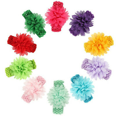 Girl's Flower Bands 12pcs Baby Headband Infant Toddler Hair Bows Girl Headbands