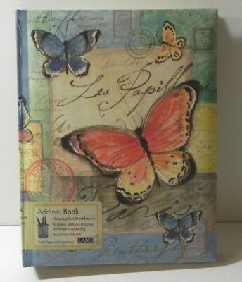 Lang Address Book Butterflies Susan Winget 3 Ring Bound  8.5 x 6.5 inches