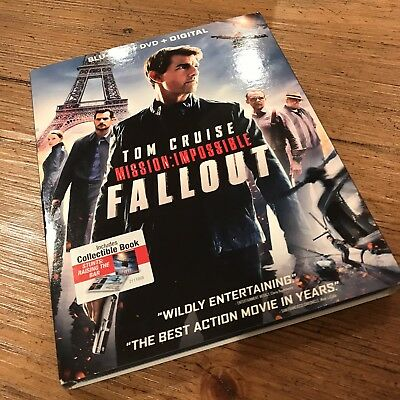 Mission: Impossible - Fallout (Blu-ray/DVD, 2018, 2-Disc) Slipcover Tom Cruise