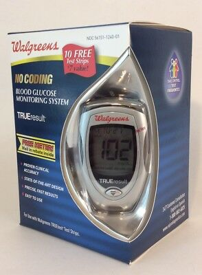 Walgreens No Coding Blood Glucose Monitoring System & 10 Test Strips EXPIRED