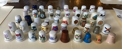 LOT #5 of 8. 50 Collector Thimbles. US, Germany, Japan, England, Malaysia, Wales