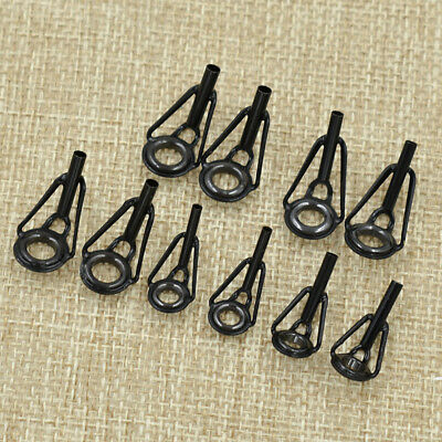 All Sizes Rod Pole Tips Top Guide Rings BLACK #6 #8 #10 Fishing Repairs Buildisa