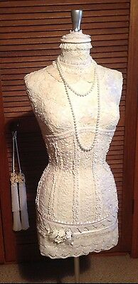 Decorated Mannequin New...Ivory and White Lace.