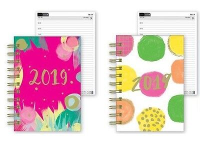 2019 A6 Day to Page Diary Spiral Hardback Planner Full Page Saturday & Sunday