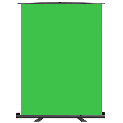 Green Screen Backdrop, Pull-up Style, 148x180cm Portable Chromakey Background
