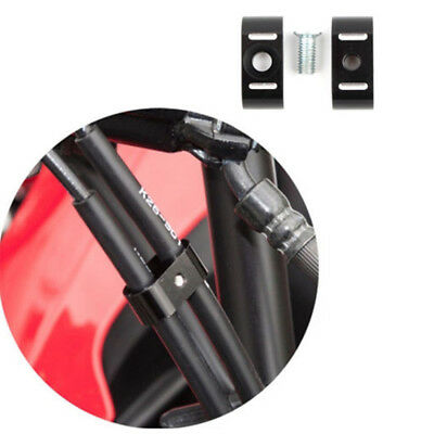 Separator Wire Spacer Holder Organizer Black Dual Brake Throttle Cable Clamp DM