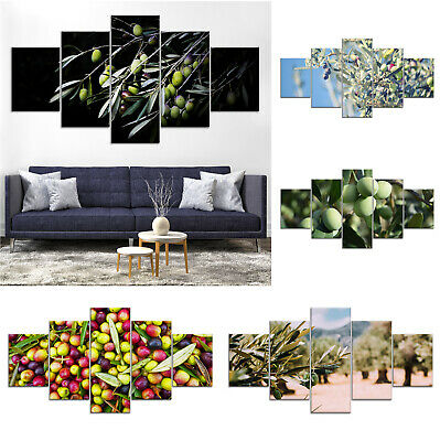 Olives Fruit Tree Canvas Print Painting Framed Home Decor Wall Art Poster 5P