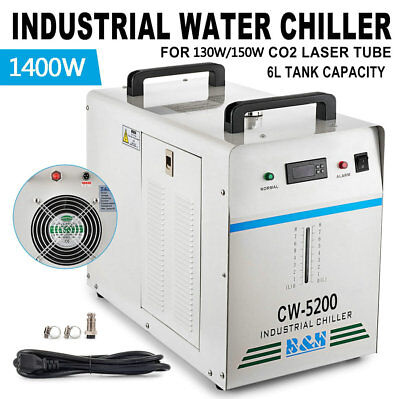 110V 60Hz CW-5200DG Industrial Water Chiller for One 130W 150W CO2 Glass Laser