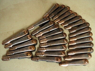 Full Set 28 Vintage Coppered Stair Carpet Grips/ Clips