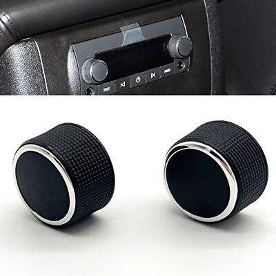 KERMAN 2 PC Rear Radio Audio Volume Control Knob Dial Tuner for 07-13 Chevy Taho