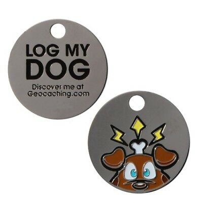 % Groundspeak Travel Bug Tag Log my Dog Geocaching Geocoin %