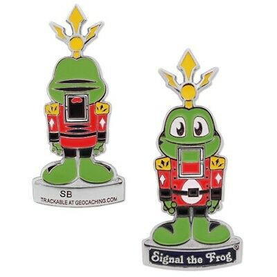 % Groundspeak Geocoin Nussknacker Signal the Frog Geocaching %