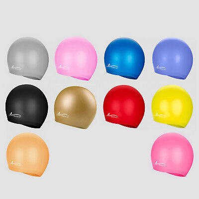 Kids/Adults Durable Silicone Water Hats Sport Pool Swimming Swim Elastic Cap HOT