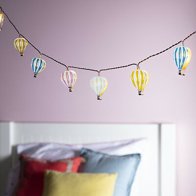 Pastel Hot Air Balloon Children's Battery Fairy Lights with Timer by Lights4fun