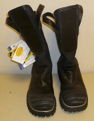 Honeywell Pro Warrington Black Leather Firefighter Boots 5006 5006SG Size 7.5 3E