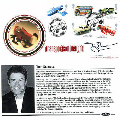 18 September 2003 Transport Of Delight Benham Fdc Hand Signed Tiff Needell Shs
